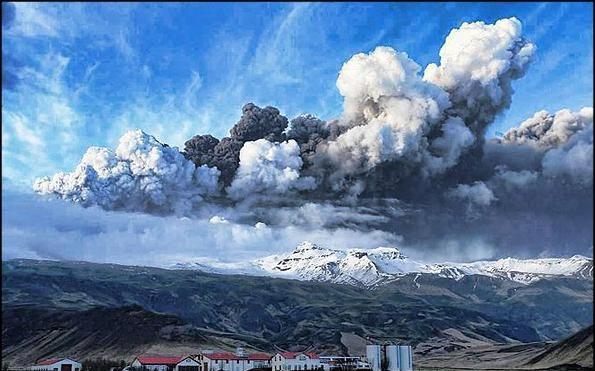 خاکستر آتشفشان ایسلند