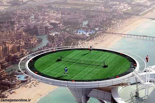 زمین تنیس برج العربیه دبی