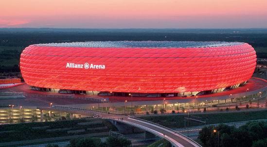 معماری جالب - ورزشگاه آلیانز اره نا بایرن مونیخ