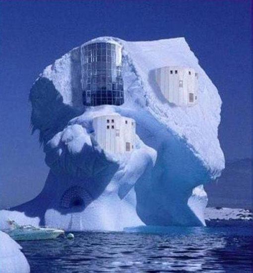 معماری جالب - ساختمان یخی